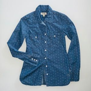 Triple Five Soul Denim Blouse